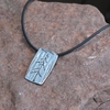 Pine Tree Pewter Necklace
