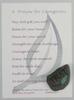 Sage General Caregiver's Prayer Card with hand painted Lake Superior stone