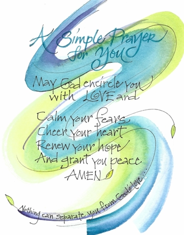 Simple Prayer Greeting Card, with message