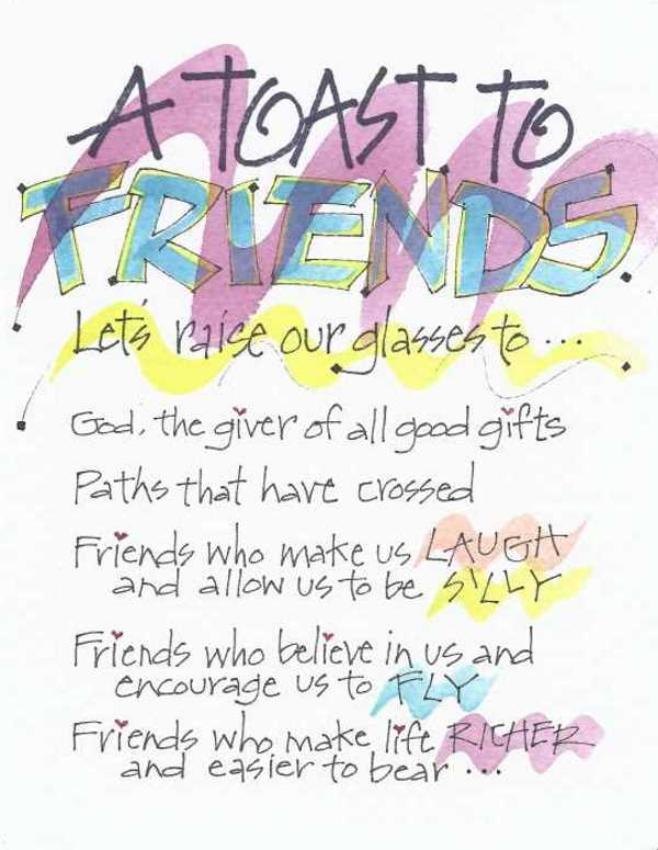 Friendship toast to friends greeting card message inside toast to friends greeting card message inside m4hsunfo