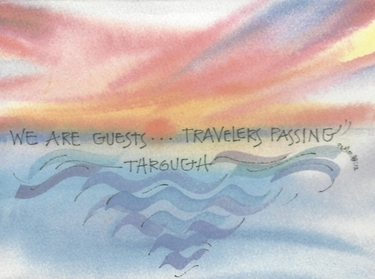 Traveler's Sunset Birthday Greeting Card