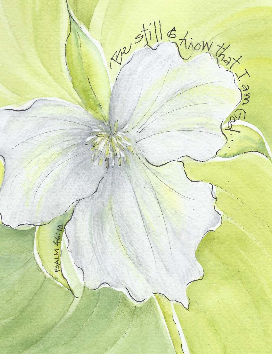 Sympathy trillium sympathy greeting card message inside trillium sympathy greeting card message inside m4hsunfo
