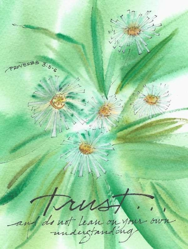 Trust Greeting Card, set of 6 blank notes