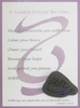 Violet General Illness Prayer Card with hand painted Lake Superior stone