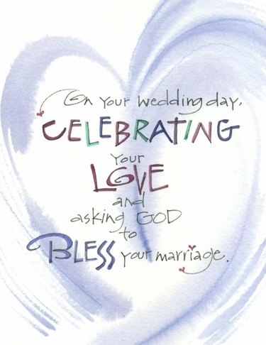 Wedding Blessing Greeting Card, with message