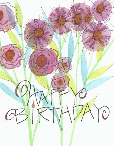 Wildly Blessed Birthday Greeting Card, with message