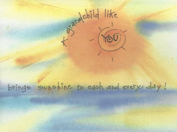 You Are My Sunshine Grandchild Birthday Card