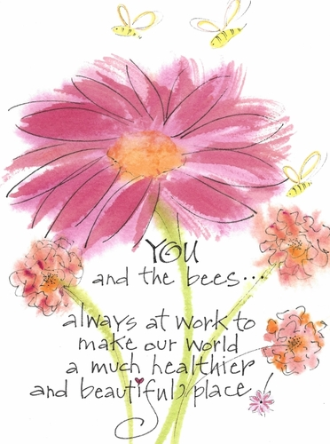 You & the Bees Greeting Card, blank inside