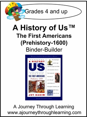 A History of Us Book 1- The First Americans Binder-Builder Lapbook-16.00