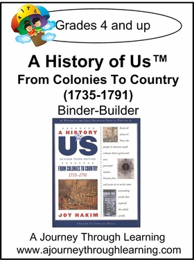 A History of Us Book 3- From Colonies to Country  Binder-Builder Lapbook-16.00