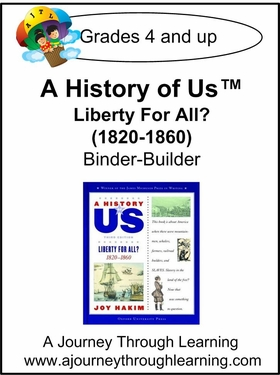 A History of Us Book 5- Liberty for All? Binder-Builder Lapbook-16.00