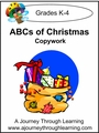 ABC's of Christmas  Cursive Style 2--4.50