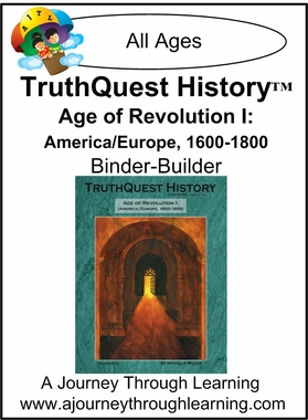 TruthQuest History Age of Revolution 1 Binder-Builder