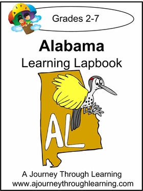 Alabama State Study Lapbook--8.00