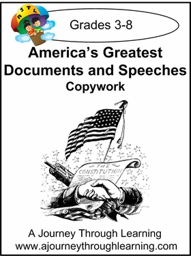 America's Documents and Speeches Cursive Style 2--4.50