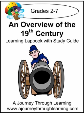 Overview of 19th Century Lapbook with Study Guide--8.00