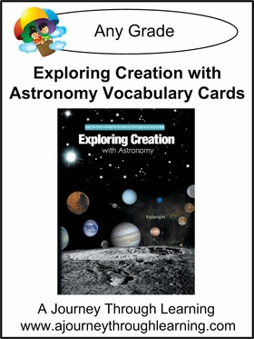 Apologia Exploring Creation with Astronomy Vocabulary Cards