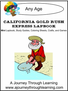 California Gold Rush Express (Quick) Lapbook