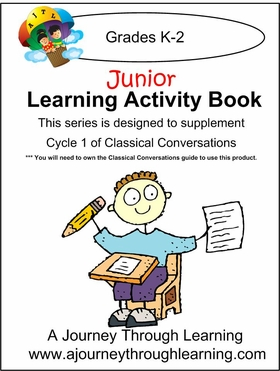 Classical Conversations Cycle 1 Junior Learning Activity Book Weeks 1-24 (New 5th edition completed soon!)