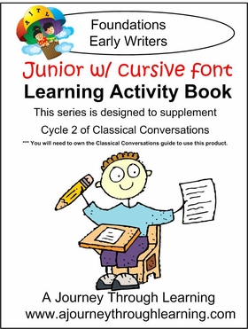 Classical Conversations Cycle 2 JUNIOR Learning Activity Book (CURSIVE Font) Loose-leaf Printed