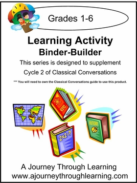 Classical Conversations Cycle 2 Learning Activity Binder-Builder Loose-leaf Printed