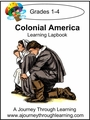 Colonial America Grades 1-4 Lapbook with Study Guide-8.00