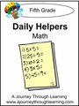 Daily Helper Lapbook- Grade 5 Math-8.00