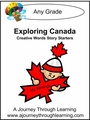 Exploring Canada Creative Words Story Starters 8.00