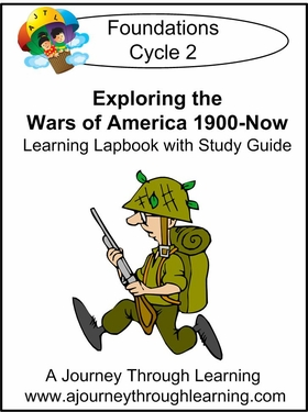 Exploring the Wars of America for Foundations Cycle 2 Lapbook-8.00