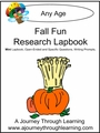 Fall Fun Research Express Lapbook