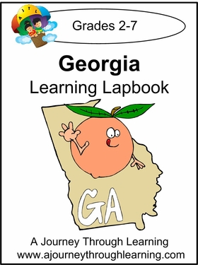 Georgia State Study Lapbook--8.00