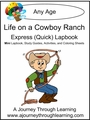 Life on A Cowboy Ranch Express (Quick) Lapbook