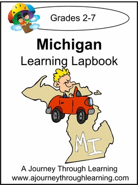 Michigan State Study Lapbook--8.00