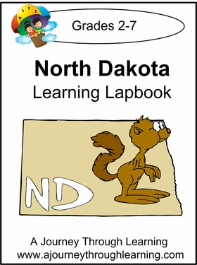 North Dakota State Study Lapbook--8.00
