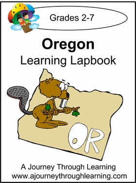 Oregon State Study Lapbook--8.00