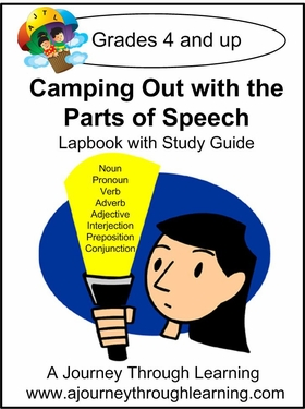 Parts of Speech Lapbook with Study Guide