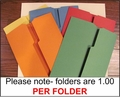 Prefolded Colored Lapbook Folders