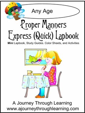 Proper Manners Express (Quick) Lapbook