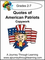 Quotes of American Patriots Cursive Style 2-4.50