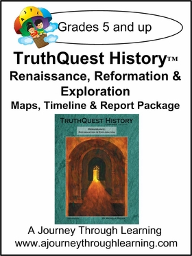 Renaissance/Reformation/Exploration Maps, Timeline, and Report Package