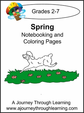 Spring Notebooking and Coloring Pages