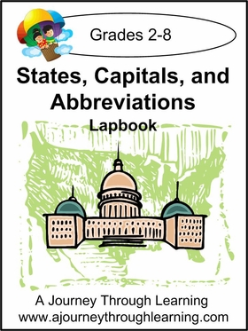 States, Capitals, and Abbreviations Lapbook