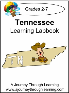 Tennessee State Study Lapbook--8.00
