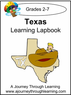 Texas State Study Lapbook --8.00