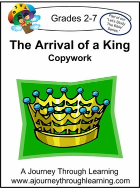 The Arrival of A King  Cursive Style 2--4.50