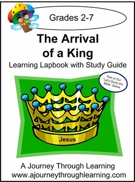 Jesus-Arrival of a King Lapbook with Study Guide--8.00