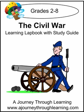 Civil War Lapbook with Study Guide-8.00