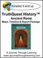 TruthQuest History Ancient Rome Maps, Timeline, and Report Package