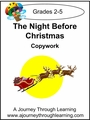 The Night Before Christmas Copywork Cursive Style 2