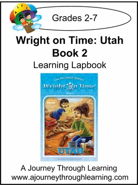 Wright on Time-Utah Book 2 Lapbook Instant Download-$4.50